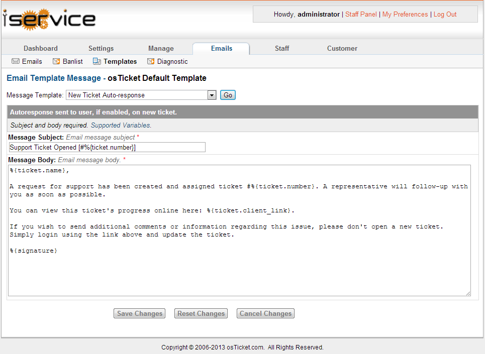 Admin Panel Description Iservice Tutorial Handheldie